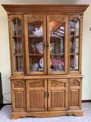 Lighted china hutch for Sale in Tumwater, WA