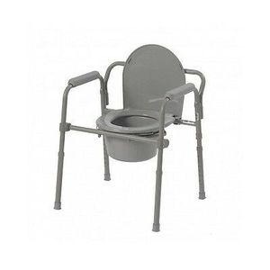 Drive Medical Chair Folding Steel Bedside Toilet Portable Grey New for Sale in Dearborn Heights, MI