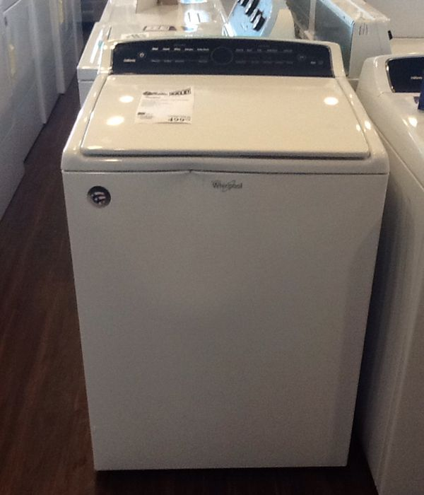 New open box whirlpool top load washer WTW7000DW