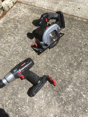 Craftsman 19.2 volt drill and 19.2 volt skill saw for Sale in New Port Richey, FL