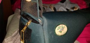 Full tackle box fly making gear, L.L.bean Fly fishing 2 rod bag, Heavy Metal Anchor/tying tool for Sale in Andover, MA