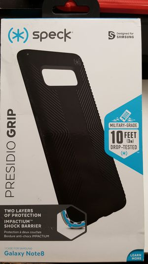 Case speck for samsung note 8 color black new 8firm now ship out of the town for Sale in Phoenix, AZ