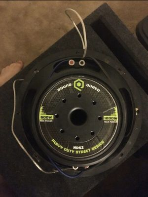 "SoundQubed 12"" sub, Sound Audio, Kicker, Skar, Sundown , massive hippo, pioneer, kenwood, jbl, db drive for Sale in Chicago, IL"