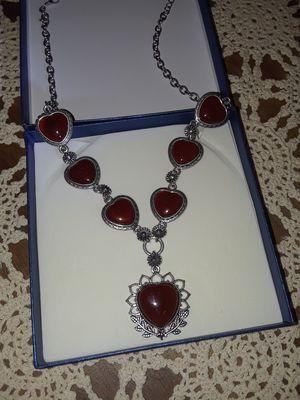 RedJasper heart necklace for Sale in Trenton, NJ