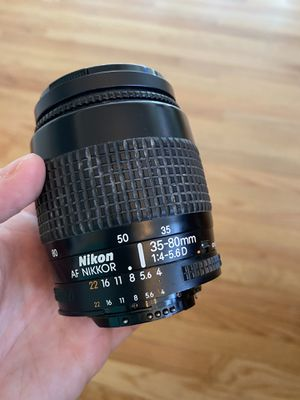 Nikon AF Nikki 35-80mm lens -used for Sale in Danbury, CT