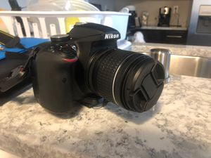 Nikon d3400 with 2 lenses (lens kit), external flash, and accessories + canon vixia HF r800 Camcorder bundle for Sale in Anchorage, AK