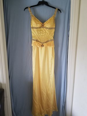 Size 6 Sunshine Yellow Dress with Shawl for Sale in Trenton, MI