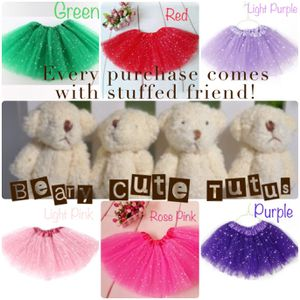 Tutus - Girl's Sparkle Tutus - Size: 2-7 years - COMES WITH FREE STUFFED BEAR Many colors for Sale in Shelton, CT