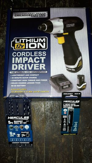 Brand new never been used impact drill/driver with concrete drill bits for Sale in South Bend, IN
