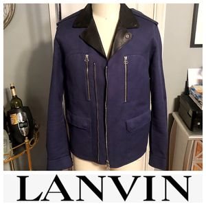 Men's Lanvin biker jacket paid $3,800 size 52 (XL) leather. Excellent condition. Only worn twice! for Sale in Washington, DC