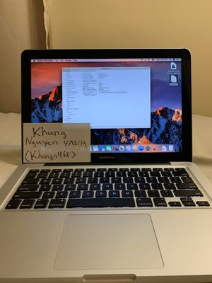Early 2011 Apple 13.3 Macbook Pro for Sale in San Jose, CA