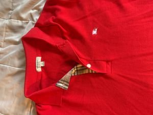 Burberry Red Long Sleeve Polo Shirt- XL Men's for Sale in Livermore, CA