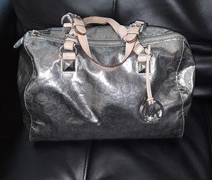 Michael Kors AV-1111 Women's silver bag with tan straps for Sale in Scottsdale, AZ