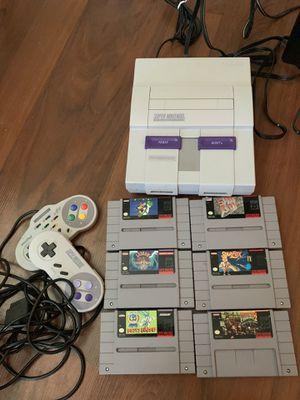 Super Nintendo w/ Mario and games for Sale in Dallas, TX