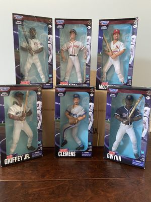 Starting Lineup 1999 12 inch set of 6: Griffey, McGwire, Sosa, Gwynn, Clemens, Nomar. Plus Baseball Cards for Sale in GOODLETTSVLLE, TN