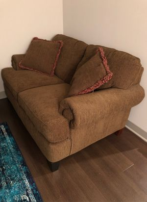 Brown Fabric Love Seat for Sale in Saint Charles, MO