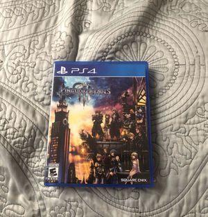 Kingdom Hearts 3 PS4 for Sale in Lodi, CA