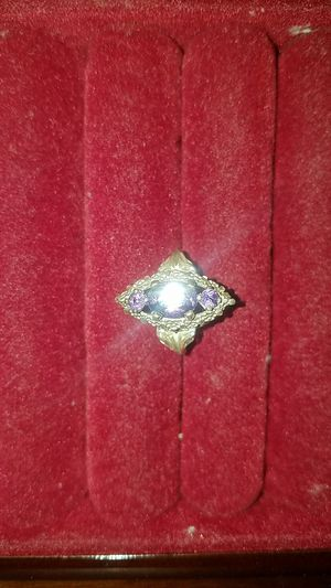 Eye Shaped Silver & Violet Crystal Ring for Sale in Fairfax, VA