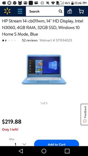 HP stream 14 laptop for Sale in Spokane, WA