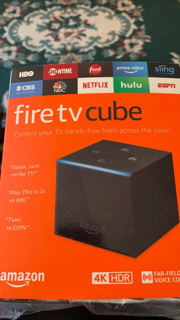 Fire TV cube 4K HDR w/ Alexa voice remote
