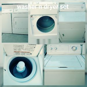 Whirlpool washer n dryer set for sale with warranty I also offer appliance repair valley wide se habla espanol for Sale in Tempe, AZ