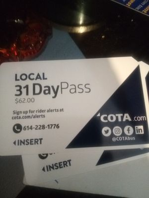 Monthly bus pass new for Sale in Columbus, OH