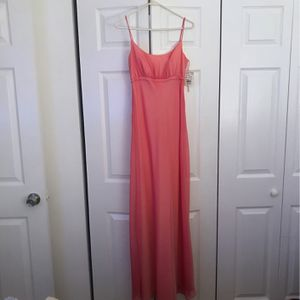 Wedding Bridesmaid Dress With A Flowing Train. Length 55 inches Train Is 50 Inches. Color Is A Pinkish Called Paradise. Rouch Emp W for Sale in Miami, FL