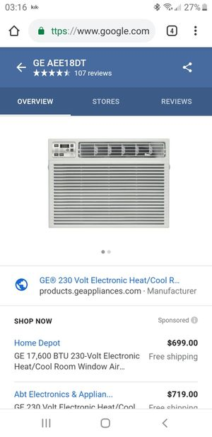 GE Window AC unit for Sale in Tampa, FL