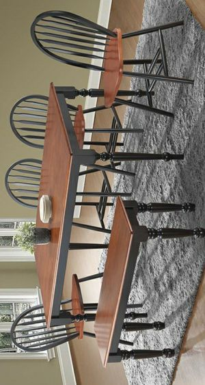 👎$39 DOWN👎Phoenix Cherry/Black Rectangular Dining Room Set | D9696CK byGlobal for Sale in Jessup, MD