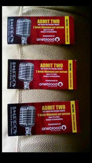 Three improv tickets ,valid for 6⃣people 👥👥👥,No Return plz❌❌❌ for Sale in Boynton Beach, FL