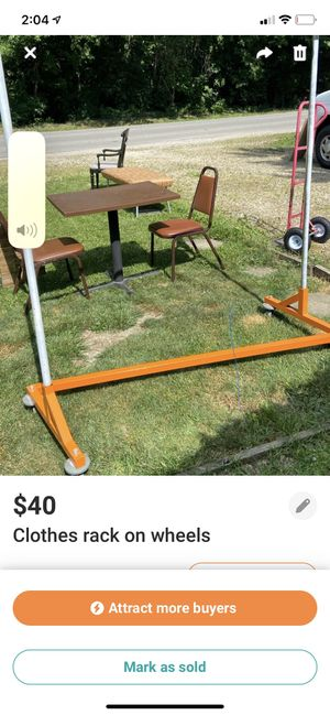 Clothes rack on wheels for Sale in Columbus, OH