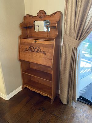 Oak writing desk for Sale in Highland, CA