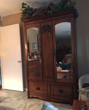 Antique Armoire (Solid Wood) for Sale in Mesquite, TX