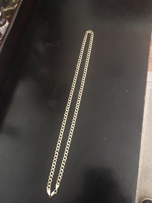 10 k solid gold Cuban link chain 24 inches long for Sale in Tampa, FL