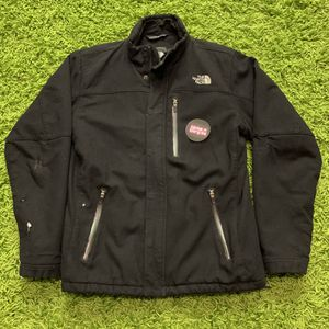 The North Face Black Wool Bomber Heavy jacket Mens Preowned SMALL for Sale in La Habra, CA