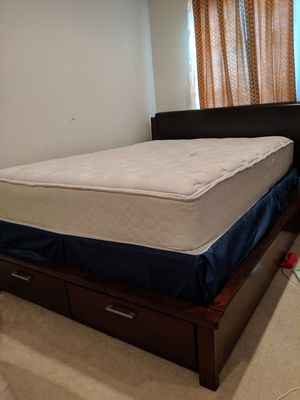 Queen bed with mattress and box spring for Sale in Ashburn, VA