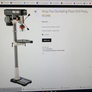 Shop Fox Oscillating Floor Drill Press W1848 for Sale in Wichita, KS