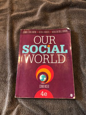 Our Social World 4th edition for Sale in Winsted, CT