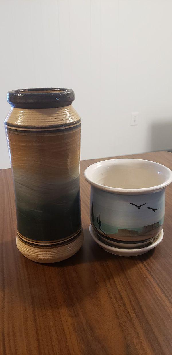 Southwest vase and flower pot