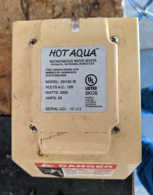 Hot Aqua 30/120 SI Tankless Water Heater for Sale in Scottsdale, AZ