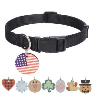 Dog Collar With Holiday ID Tags for Sale in Rancho Cucamonga, CA