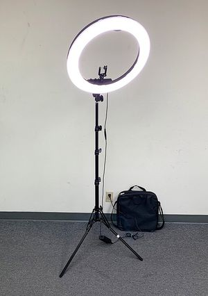 """Brand New $90 each LED 19"""" Ring Light Photo Stand Lighting 50W 5500K Dimmable Studio Video Camera for Sale in Whittier, CA"""