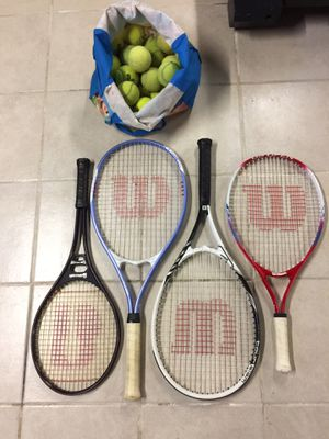 tennis rackets with balls for Sale in Hasbrouck Heights, NJ