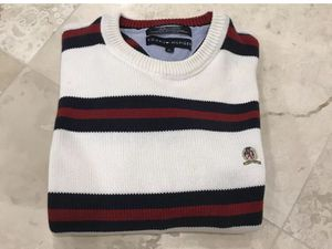 Tommy Hilfiger 100% Cotton Mens Red And White Sweater Size XL for Sale in Northbrook, IL