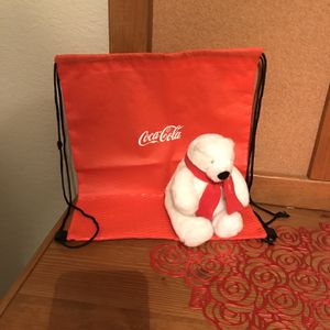 Coca-Cola Bear & Coca-Cola Drawstring Bag for Sale in Winter Haven, FL