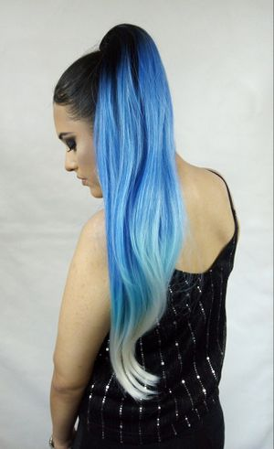 Synthetic Hair Extension Drawstring Ponytail -Pastel Blue- brand new / $30 PICK UP PRICE/ nueva color azul for Sale in Fullerton, CA