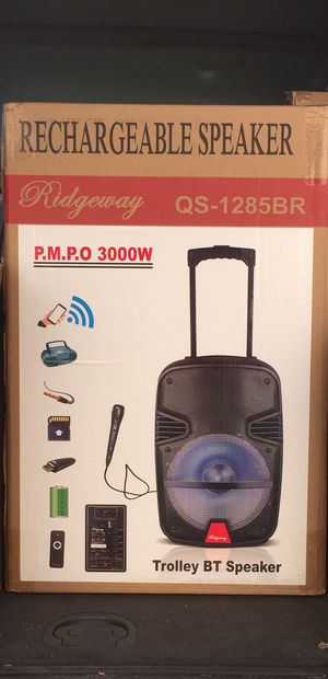 12 inch rechargeable Bluetooth speaker/aux/Fm/USB and SD port/microphone/karaoke/many styles available!! Brand new! for Sale in March Air Reserve Base, CA