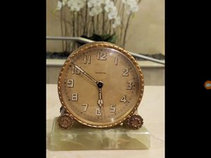 Antique ZENITH Table Clock With Marble Base ( Working ) . for Sale in Los Angeles, CA