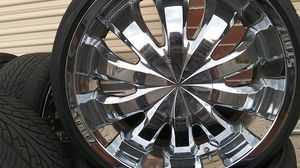 22 inch stonz wheels and tires for Sale in Denver, CO
