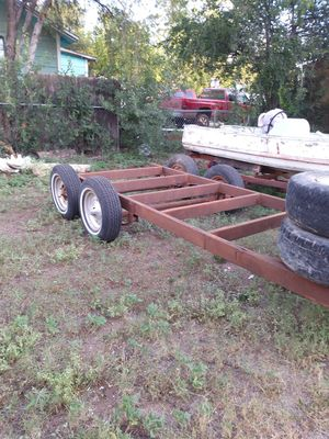 Frame 16 ft trailer as is two axle bumper pull for Sale in San Angelo, TX